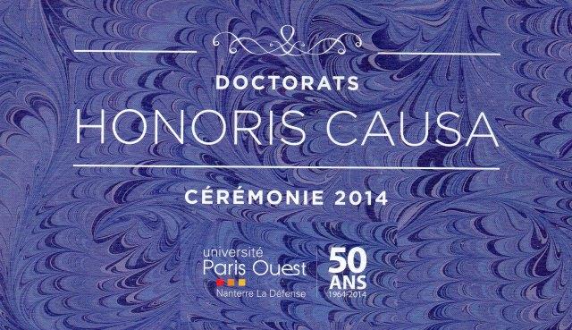 honoris causa 11 décembre 2014 à Paris ouest nanterre