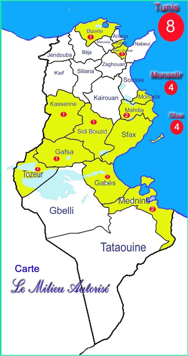 régions des ministres