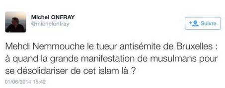 tweet de Michel Onfray