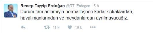 Tweet de Recep Erdogan